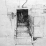 Waiting areas, pencil on paper,35 x 25 cm,2006
