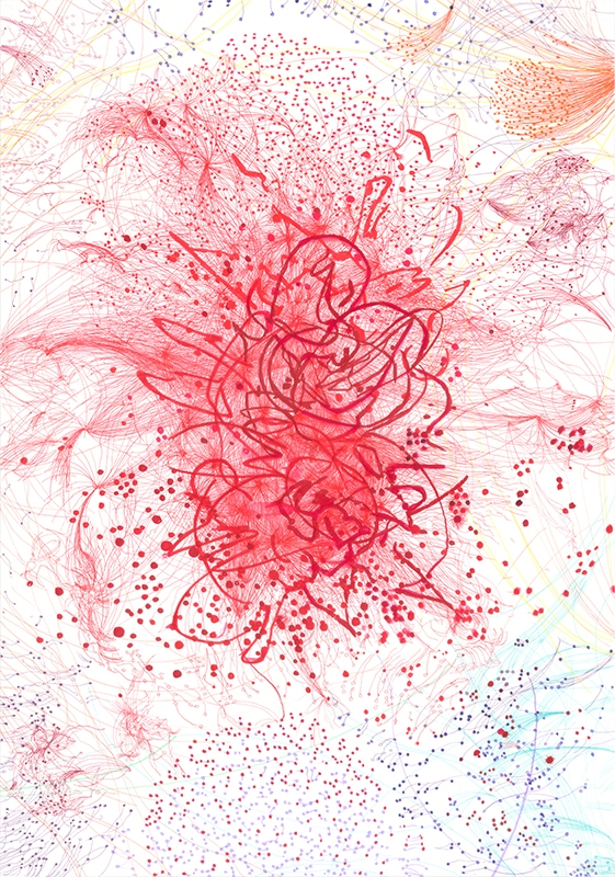 Maess_contemporary-drawing, cancer in art,illness in art, medicine in art