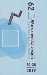 Warszawska Jesień ksiazka programowa 2019, Maess Anand ,maess